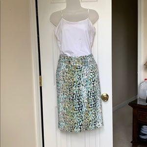 Summer Skirt in Aqua White Lime and Black.